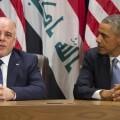 Haider AlAbadi  y Barak Obama (Credito AFP)
