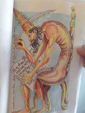Ilustracion Papa Luna