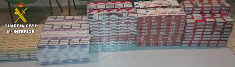 Incautacion 490 cajetillas de tabaco