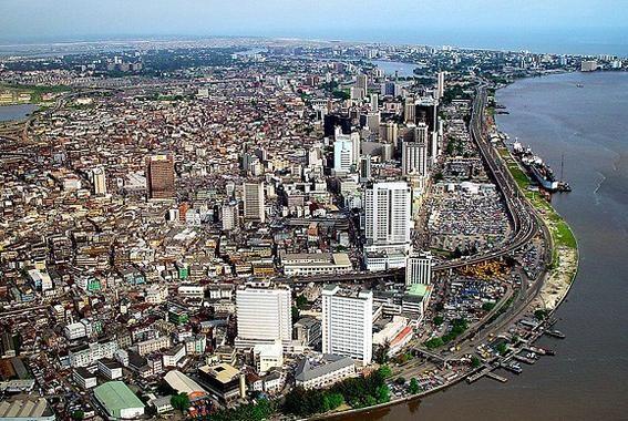 Vista aérea de Lagos (Nigeria), la ciudad más poblada de África. / Wikipedia