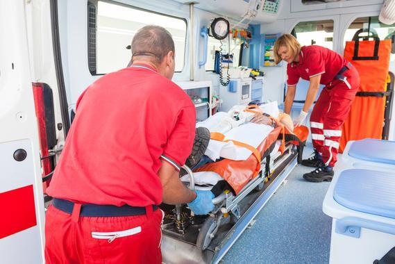 Rescue Team Providing First Aid