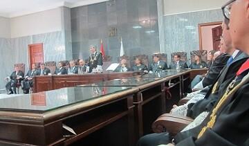Momento de la intervencion del presidente del TS y del CGPJ, Carlos Lesmes