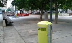 Papeleras verdes Mestalla-SantAntoni