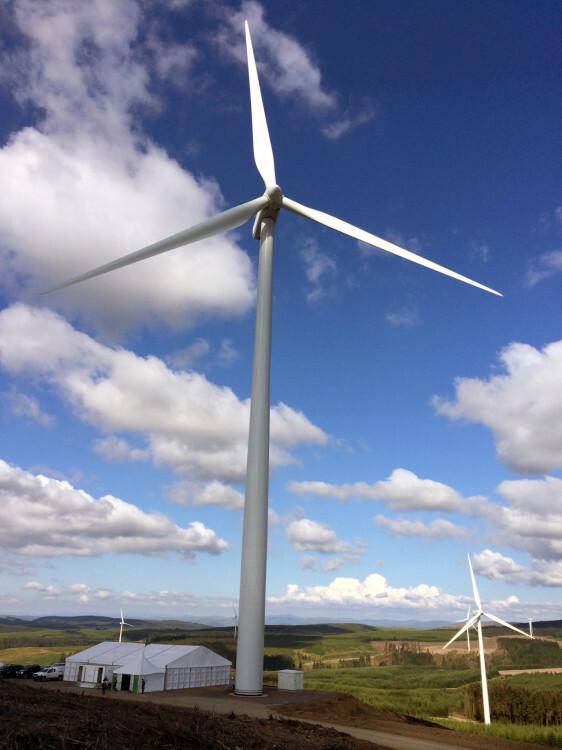 Parque eólico de Harestanes (Reino Unido)