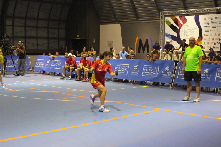 Sara de Godelleta, en la final ante Bélgica