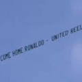 Video  el mensaje para Cristiano que sobrevoló Madrid Villarreal   Cristiano Ronaldo  Manchester United  Real Madrid  Villarreal   América