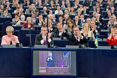 Votacion del acuerdo con Ucrania en el Parlamento Europeo