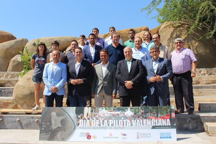 foto 1. Foto presentación del XXIII Día de la Pilota, en el Bioparc