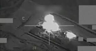 imagen del bombardeo (Archivo-AFP)