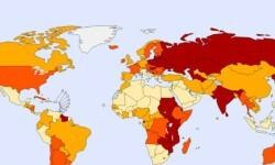 los países con mayores tasas de suicidios