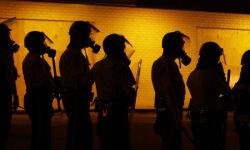 Elementos policiales de Ferguson