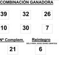 sorteo de la BonoLoto celebrado hoy martes día 02 de septiembre de 2014
