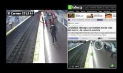 Un policía nacional que se lanzó a las vías del Metro a rescatar a un hombre