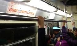 Un vagón en México viajó varias estaciones con las puertas abiertas