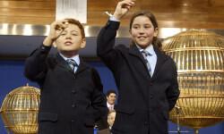 FOTO Los niños de San Ildefonso, en el sorteo de Navidad del año pasado