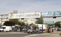 Aspecto exterior de la entrada a Mercasevilla. (Foto-Agencias)