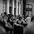 Bailarines de tango en la Estación del Norte en Valencia (Foto-Adif)