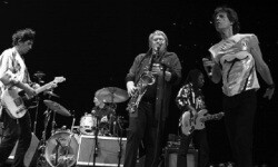 Bobby Keys en una gira con los Rollings Stones (Foto-Agencias)
