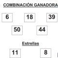 COMBINACIÓN GANADORA DE EUROMILLONES DE FECHA 30 DE DICIEMBRE DE 2014.