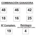 COMBINACIÓN GANADORA DEL SORTEO DE BONOLOTO