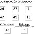 COMBINACIÓN GANADORA DEL  SORTEO DE BONOLOTO DE FECHA 12 DE DICIEMBRE DE 2014