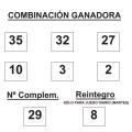 COMBINACIÓN GANADORA DEL SORTEO DE BONOLOTO DE FECHA 16 DE DICIEMBRE DE 2014