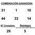 COMBINACIÓN GANADORA DEL SORTEO DE BONOLOTO DEL MIÉRCOLES 10 DE DICIEMBRE DE 2014
