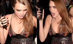 Cara Delevingne a la salida de una fiesta en Londres con unas copas (5)
