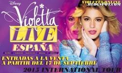 Cartel de promocial de la gira de Violetta.