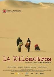 Cartel del documental '14 kilómetros', de Gerardo Olivares.