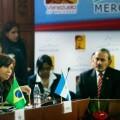 Cristina Kirchner en una reunión durante la última cumbre de Mercosur. (Foto-Télam)