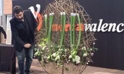 Daniel Santamaría en un momento de su exposición (Foto-Mercaflor)