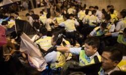 Detenciones en una manifestación (Foto-AFP)