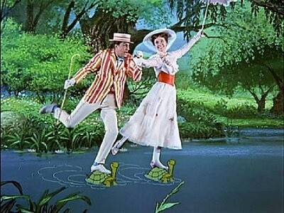 Dick van Dyke y Julie Andrews en ' class=