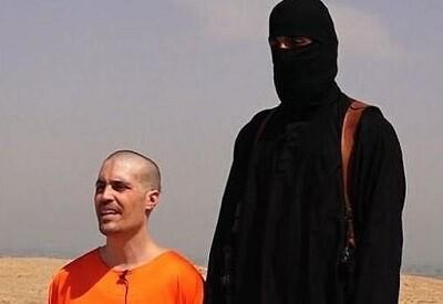El rehén norteamericano James Foley momentos antes de su ejecución. (Foto-AP)