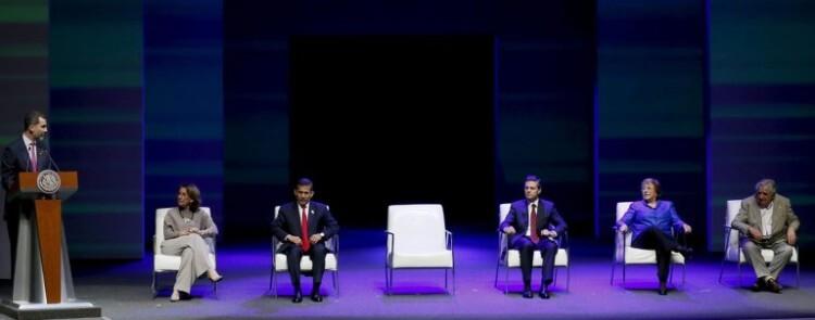 El rey Felipe de Borbón en su discurso al inicio de la Cumbre. (Foto.Agencias)