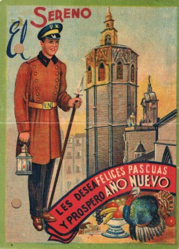 Felicitación El Sereno. València, 1944. A.P.R.S.