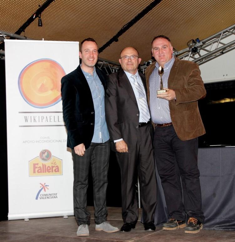 Foto Premio Cocinero José Andrés con Rafa Vidal
