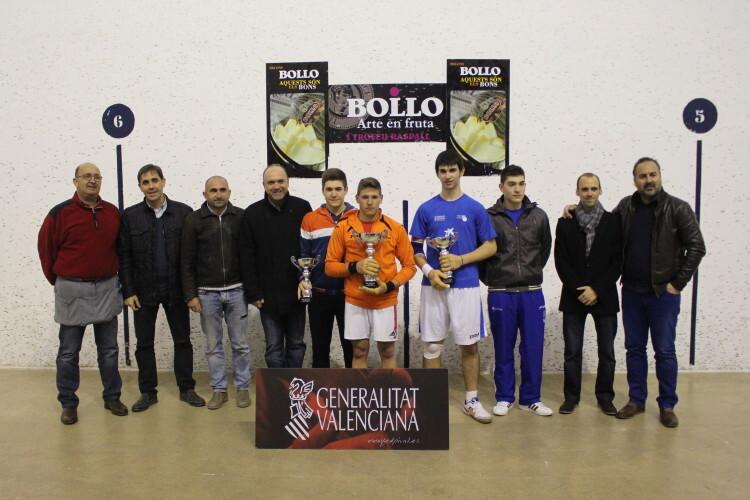 Lliurament de trofeus Individual sub-18 de raspall, 2014