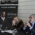 Helga Schmidt y Plácido Domingo en la rueda de prensa. (Foto-GVA)