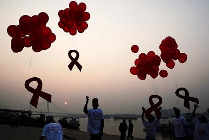 Homenaje en el Día mundial del SIDA. (Foto-AFP)