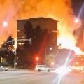 Imágenes casi apocalípticas del enorme incendio ocurrido en Los Ángeles (Foto-Agencias)