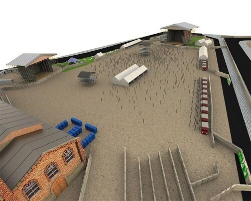 Imagen virtual del interior de la explanada para el evento. (Foto-MBC Fest)