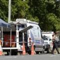 La policía acordonó la zona donde ocurrieron los hechos. (Foto-AP)