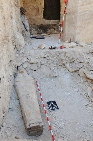 Lugar del enterramiento donde se hallaba la momia. (Foto-IEAE)