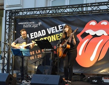 Lupe Vélez durante su actuación en un homenaje a The Rollings Stones en Bancaja. (Foto- Fundación Bancaja)