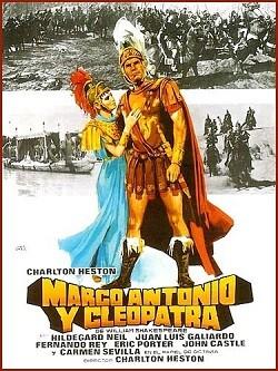 Marco Antonio y Cleopatra, cartel del filme.