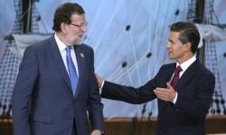 Mariano Rajoy y el presidente de México Peña Nieto. (Foto-AFP)