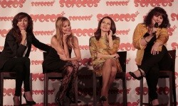 Matilla, Obregón, Toledo y Delgado durante la presentación de 'Sofocos plus'. (Foto-VLCNoticias)