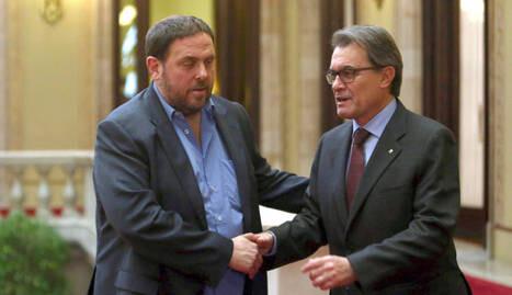 Oriol Junqueras y Artur Mas. (Foto-Archivo)